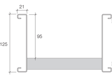 Cable Ladder Technical Details - 125mm Deep Range