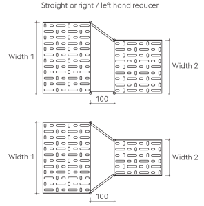 Straight or right left hand reducer