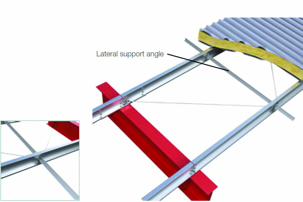 Purlins Roof Variations Lateral Restraints For Non-restraining Cladding